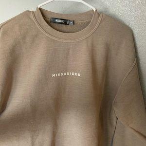 Misguided crew neck sweatshirt